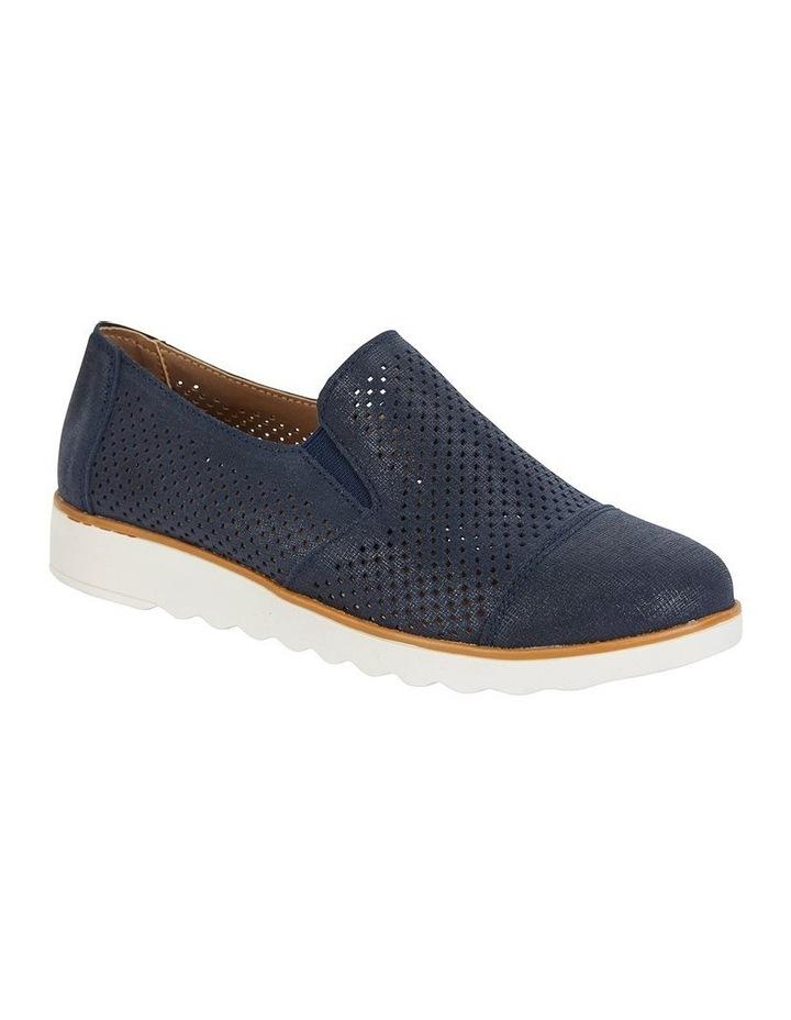 Davis Navy Combo Flat Shoes image 2