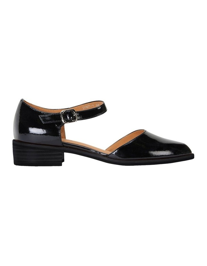 Jesinta Black Patent Flat Shoes image 1