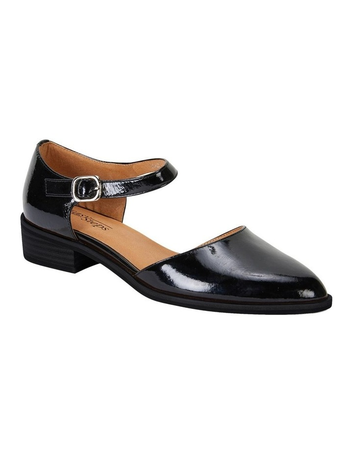 Jesinta Black Patent Flat Shoes image 2
