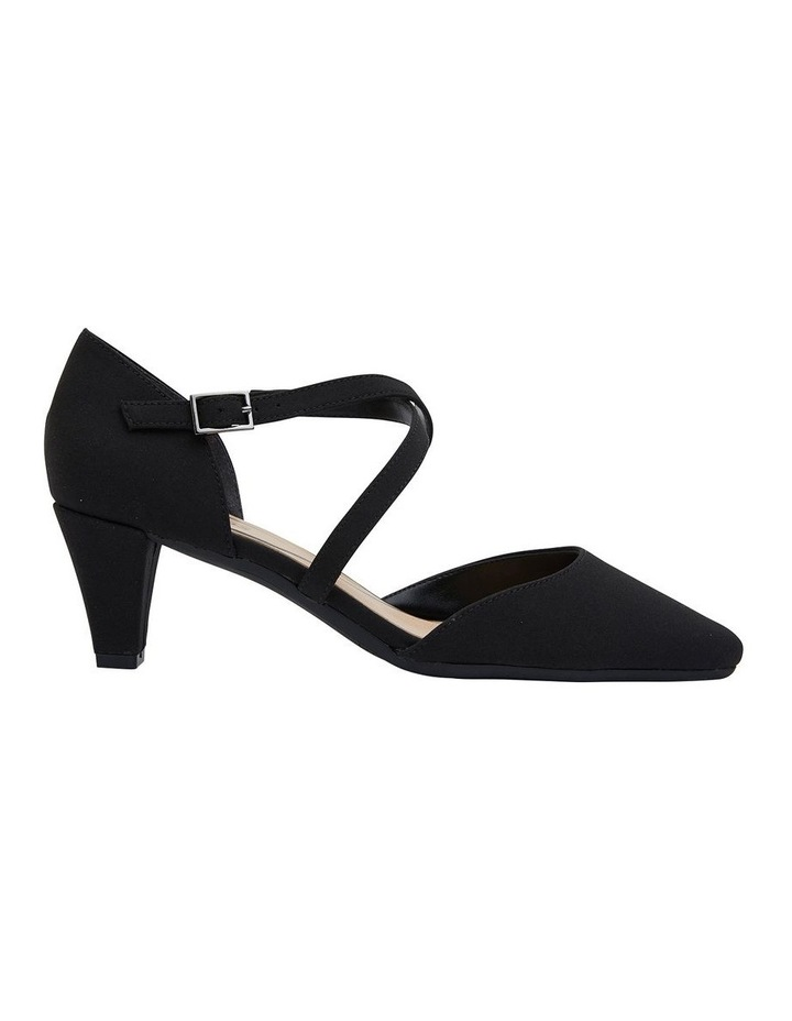 Adison Black Fabric Heel Shoe image 1