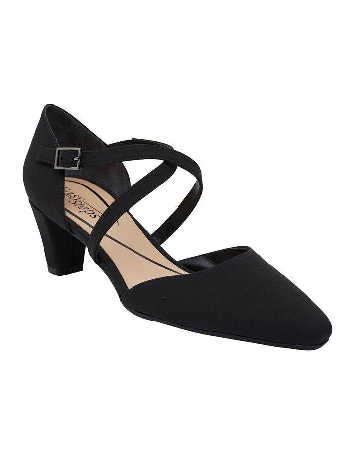 Adison Black Fabric Heel Shoe image 2