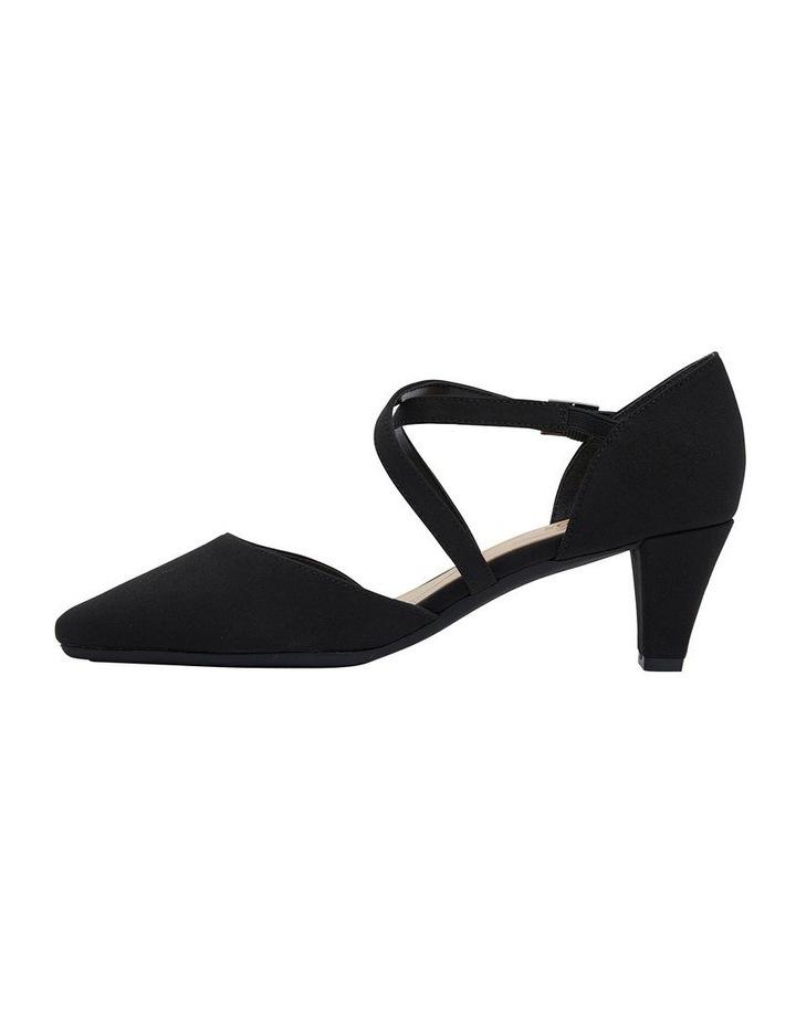 Adison Black Fabric Heel Shoe image 3