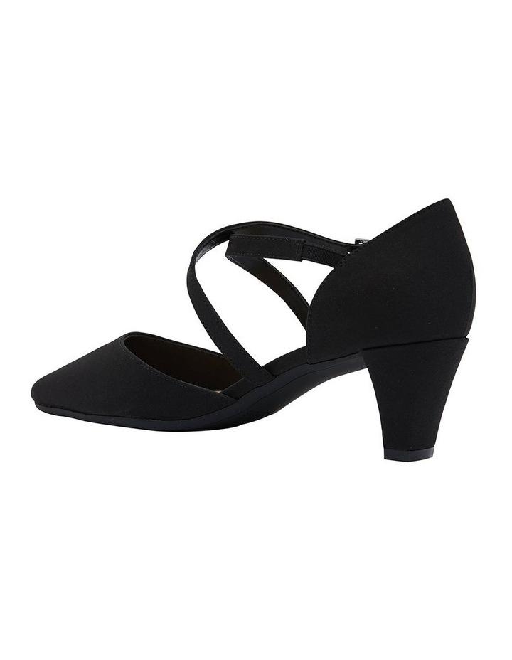 Adison Black Fabric Heel Shoe image 4