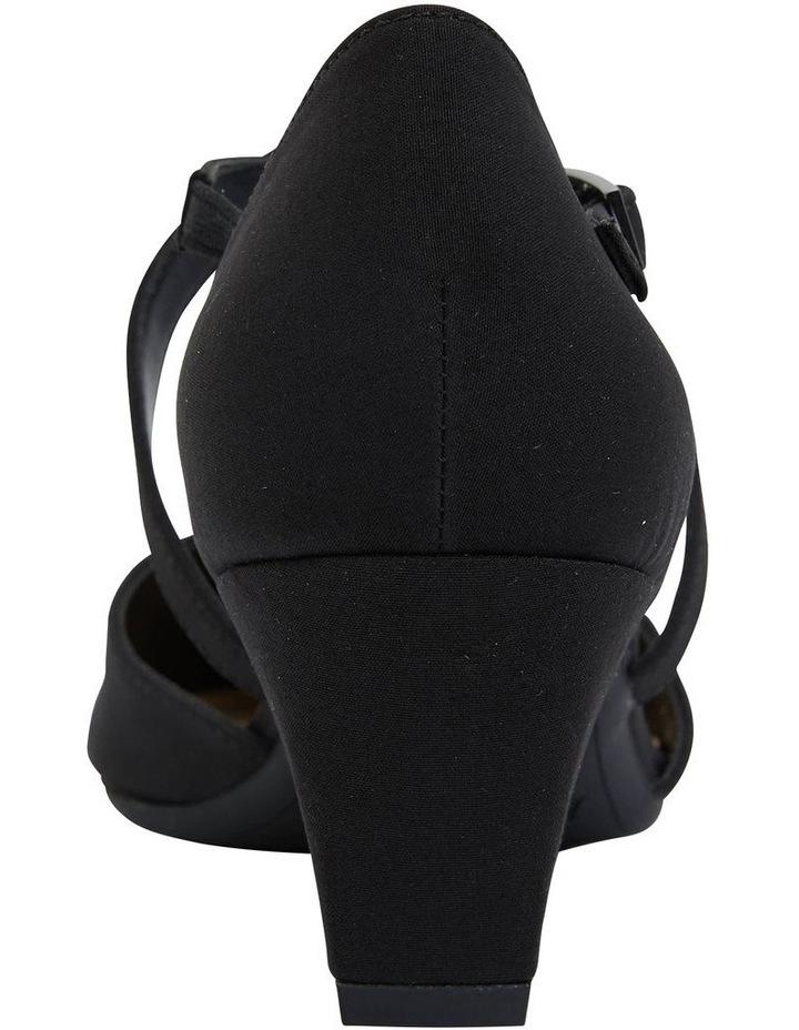 Adison Black Fabric Heel Shoe image 6