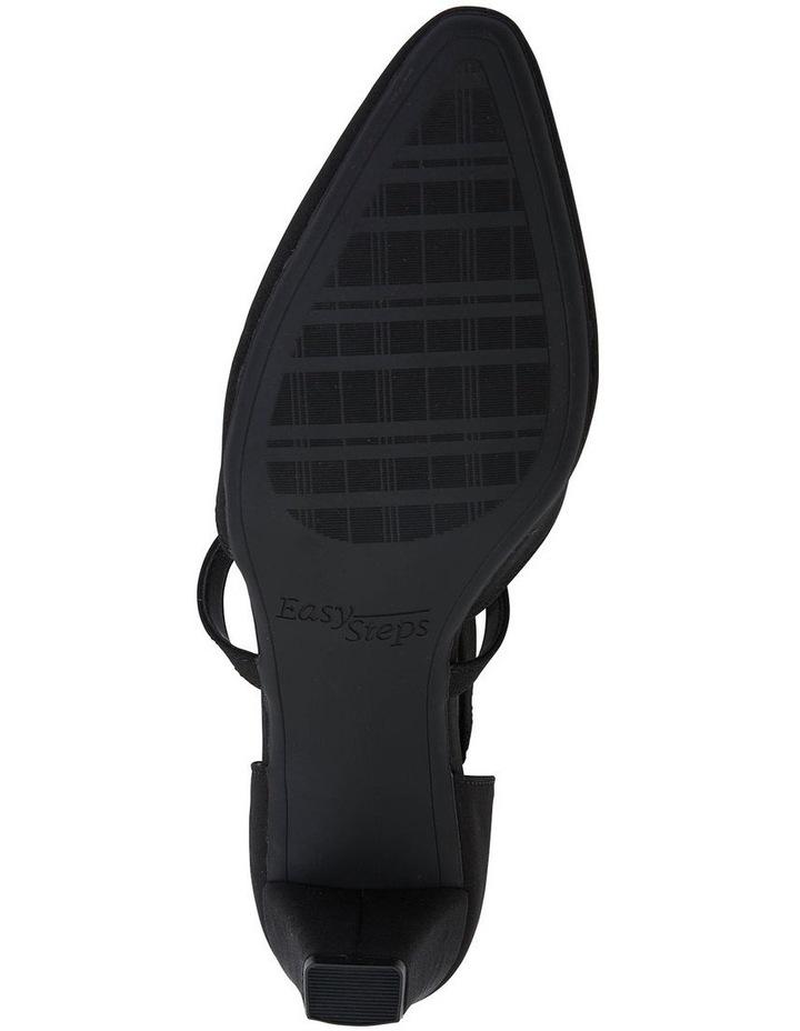 Adison Black Fabric Heel Shoe image 7
