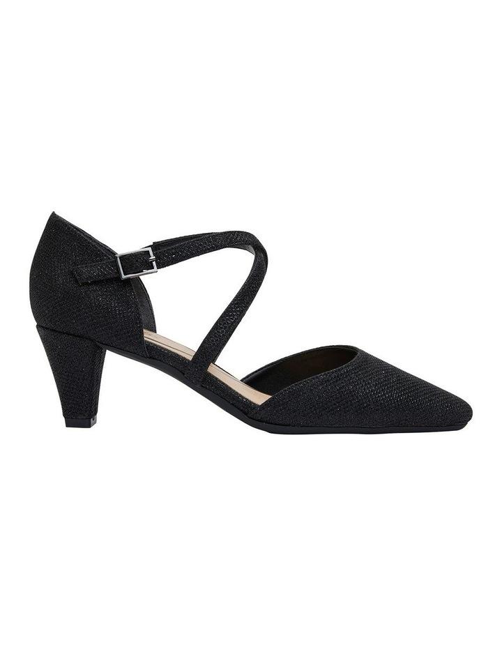 Adison Black Shimmer Heeled Shoe image 1