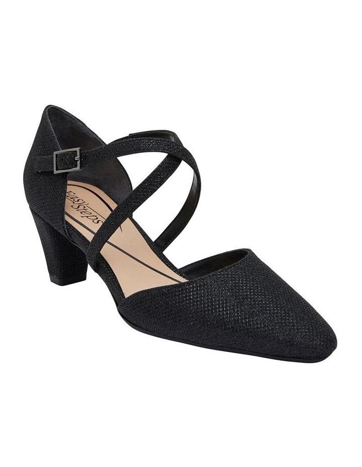 Adison Black Shimmer Heeled Shoe image 2