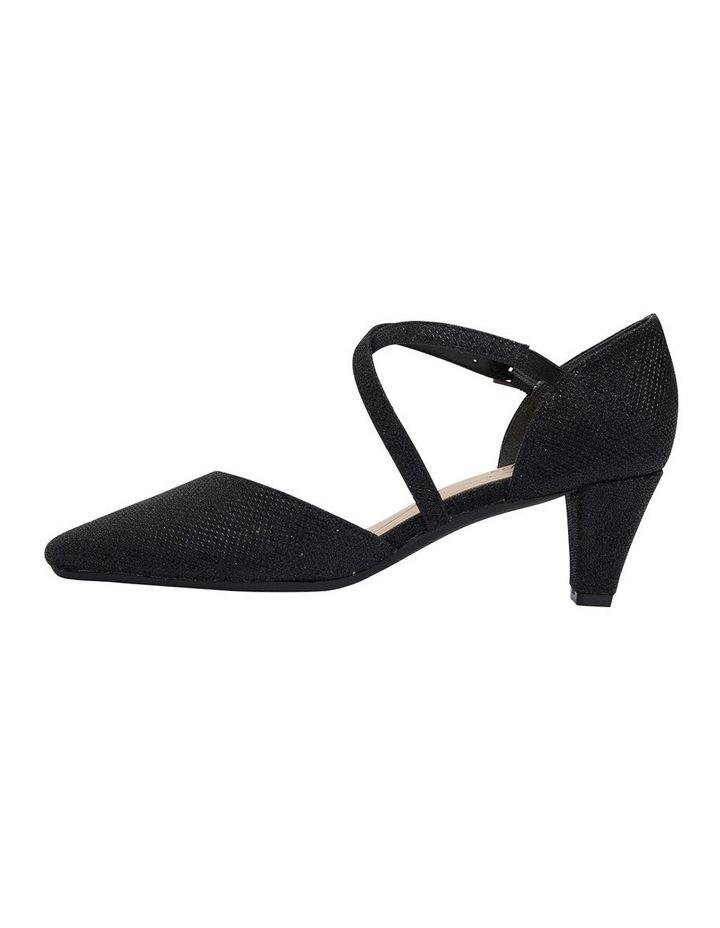 Adison Black Shimmer Heeled Shoe image 3