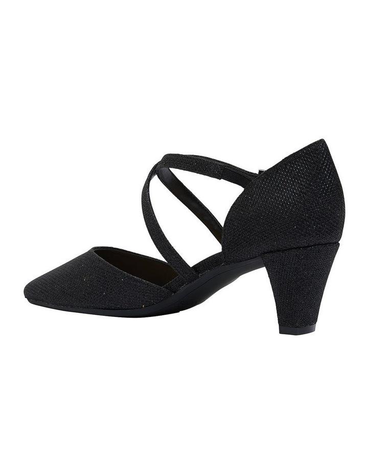 Adison Black Shimmer Heeled Shoe image 4