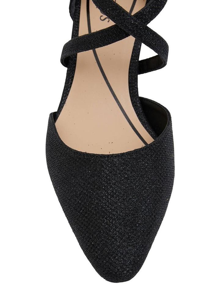 Adison Black Shimmer Heeled Shoe image 5