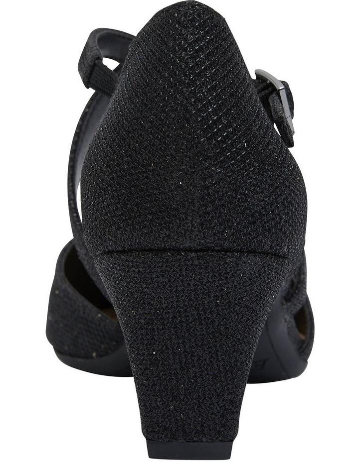 Adison Black Shimmer Heeled Shoe image 6