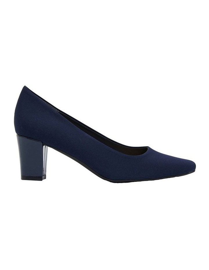 Nicole Navy Fabric Heeled Shoes image 1