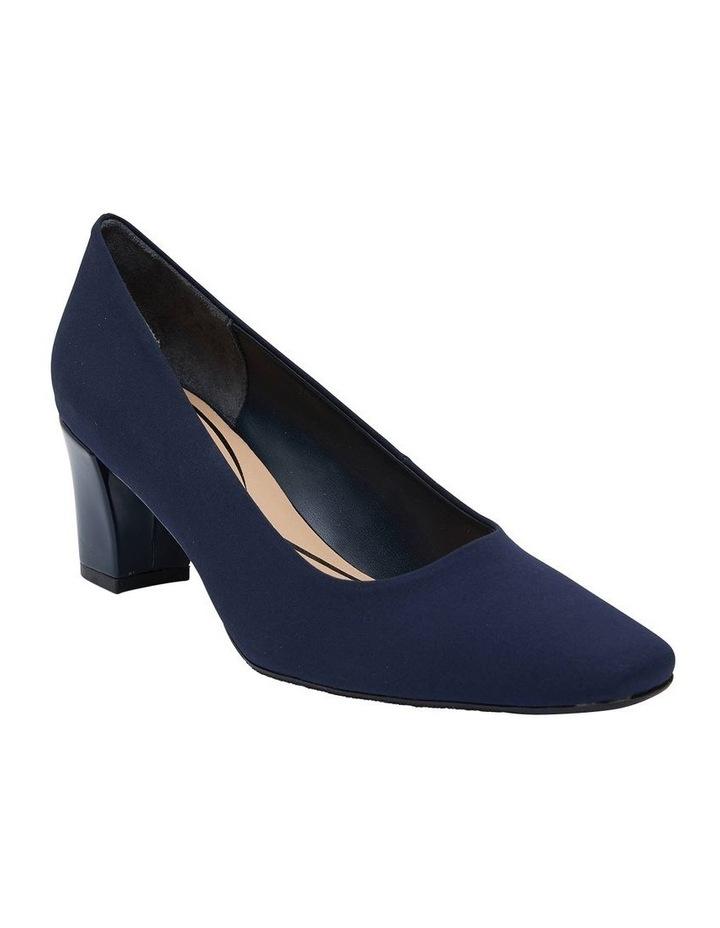 Nicole Navy Fabric Heeled Shoes image 2
