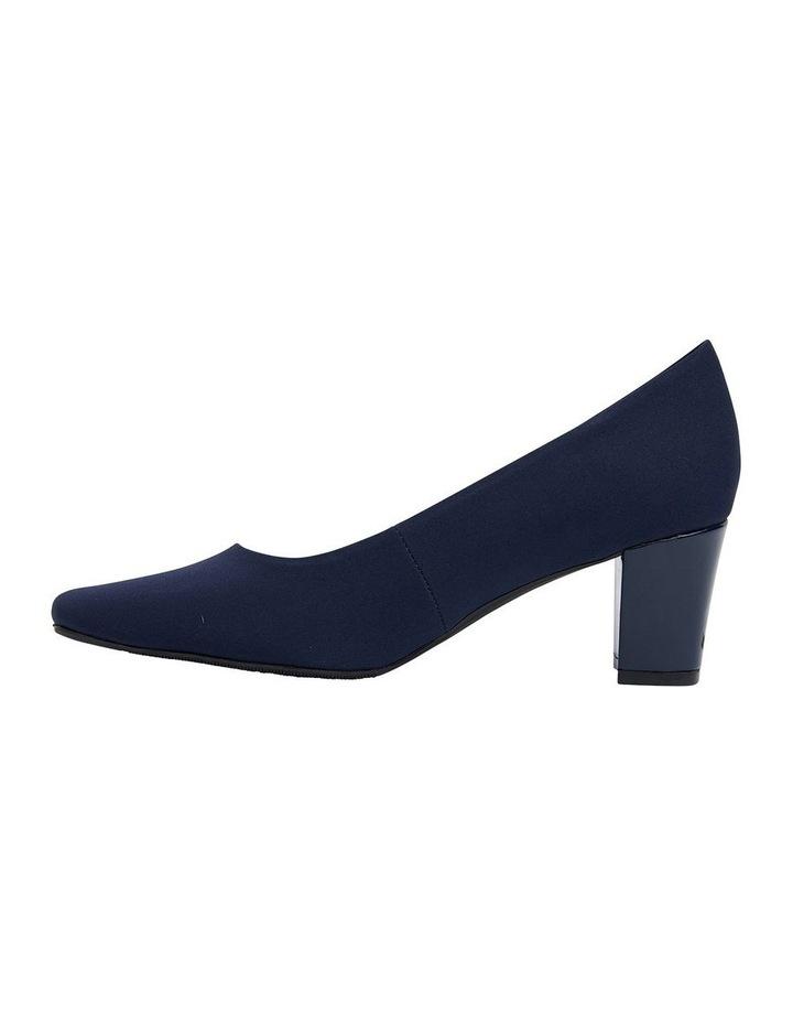 Nicole Navy Fabric Heeled Shoes image 3