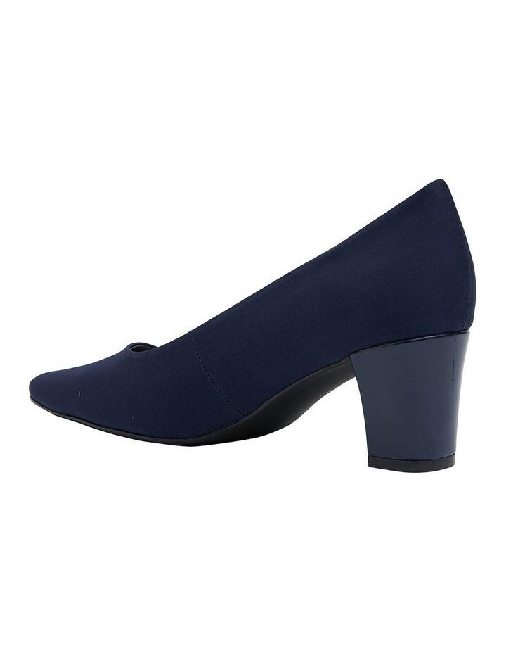 Nicole Navy Fabric Heeled Shoes image 4