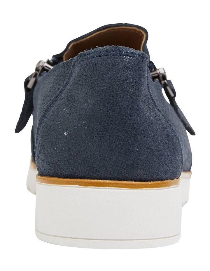Dean Navy Combo Flat Shoes image 6