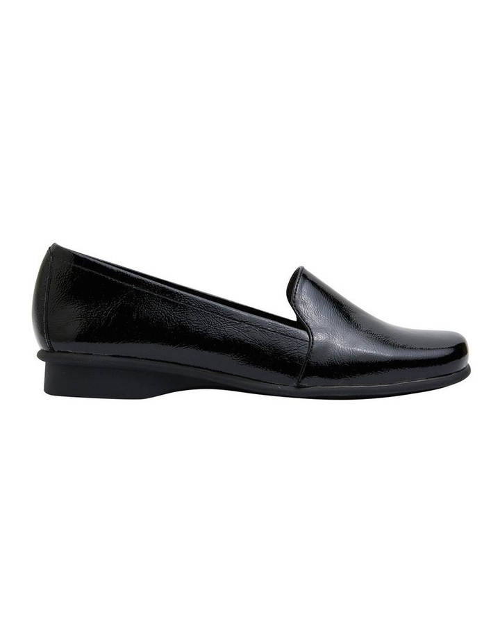 Knox Black Crinkle Patent  Flat Shoes image 1