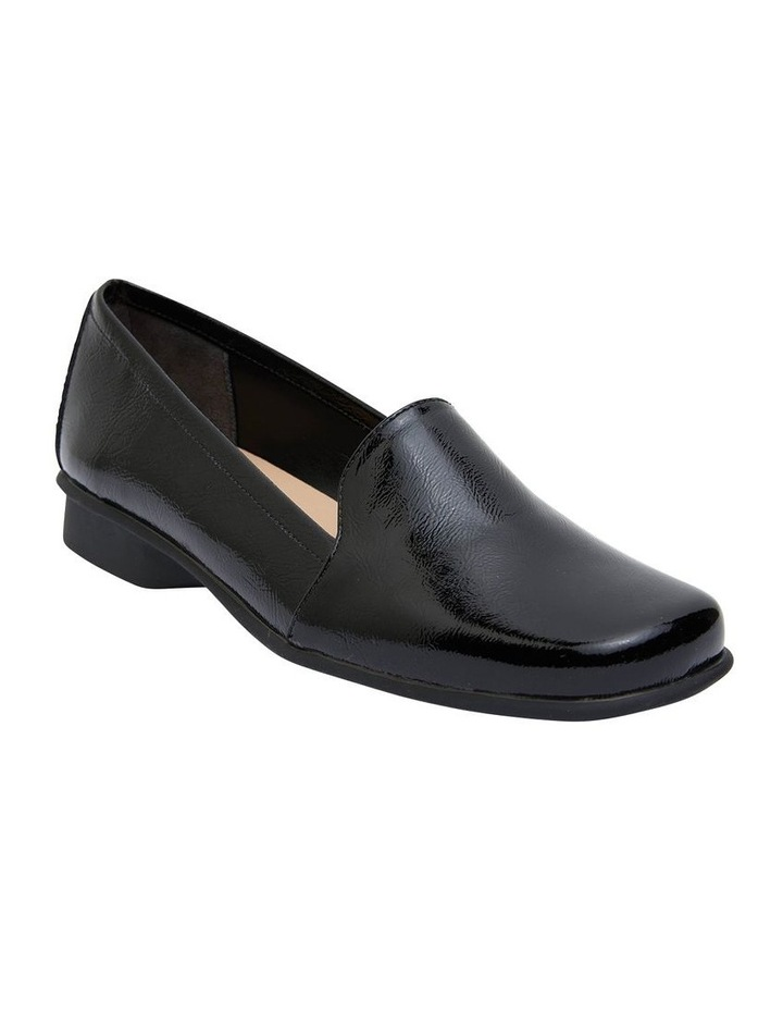 Knox Black Crinkle Patent  Flat Shoes image 2