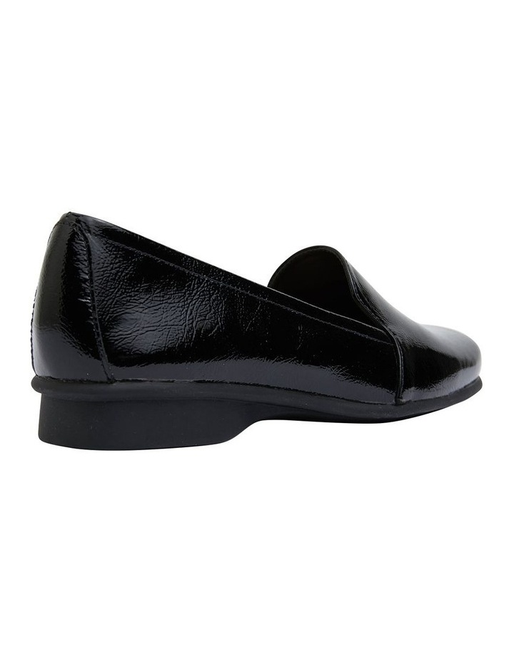 Knox Black Crinkle Patent  Flat Shoes image 3
