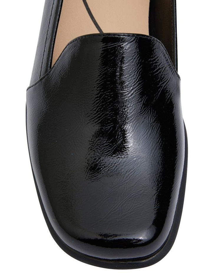 Knox Black Crinkle Patent  Flat Shoes image 5