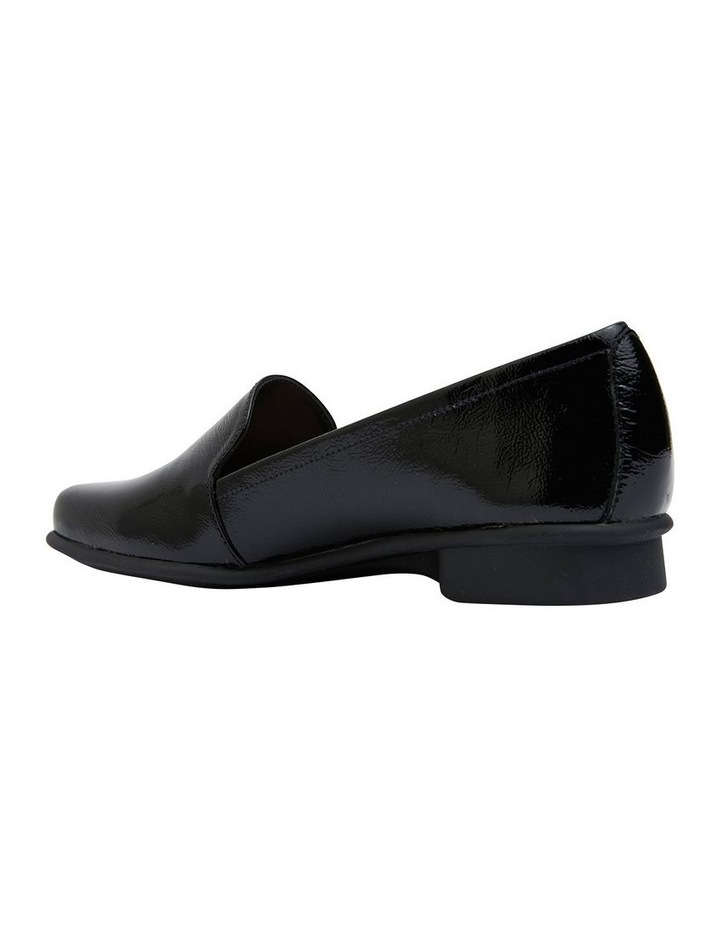 Knox Black Crinkle Patent  Flat Shoes image 6