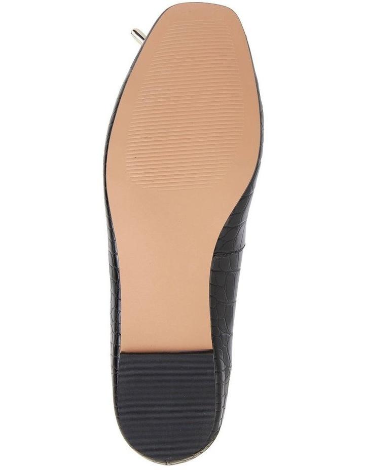 Tabbatha Black Croc Flat Shoes image 7