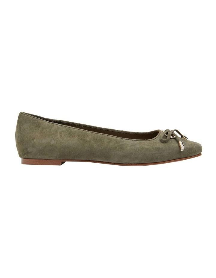 Tabbatha Khaki Suede Flat Shoes image 1