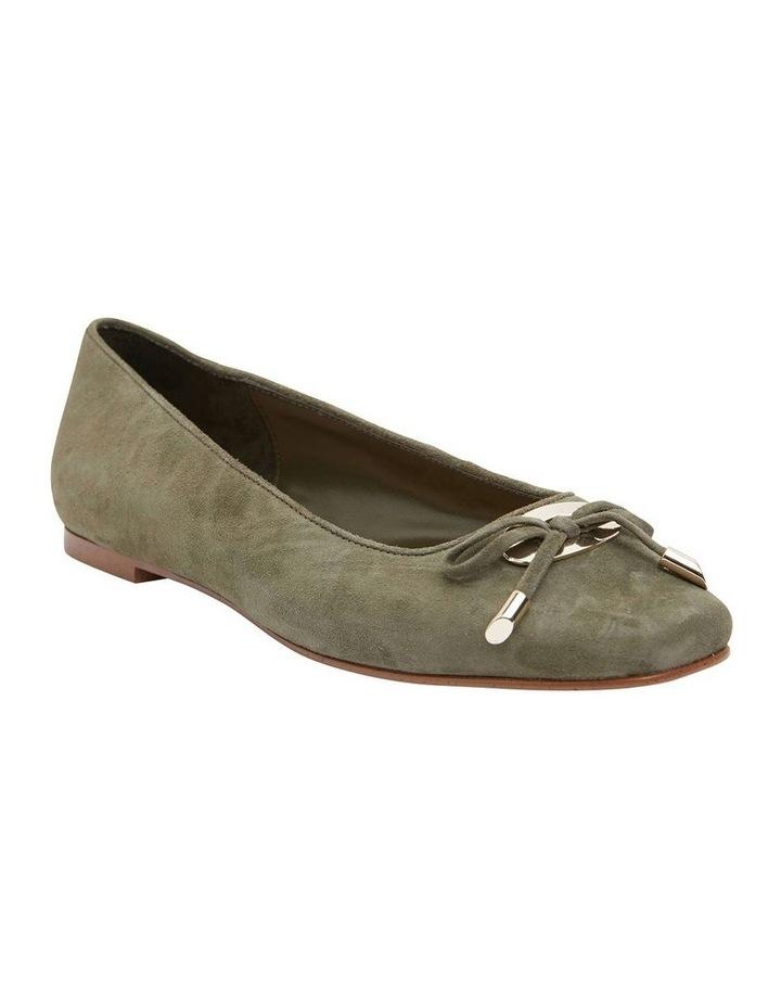 Tabbatha Khaki Suede Flat Shoes image 2