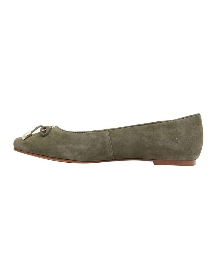 Tabbatha Khaki Suede Flat Shoes image 3