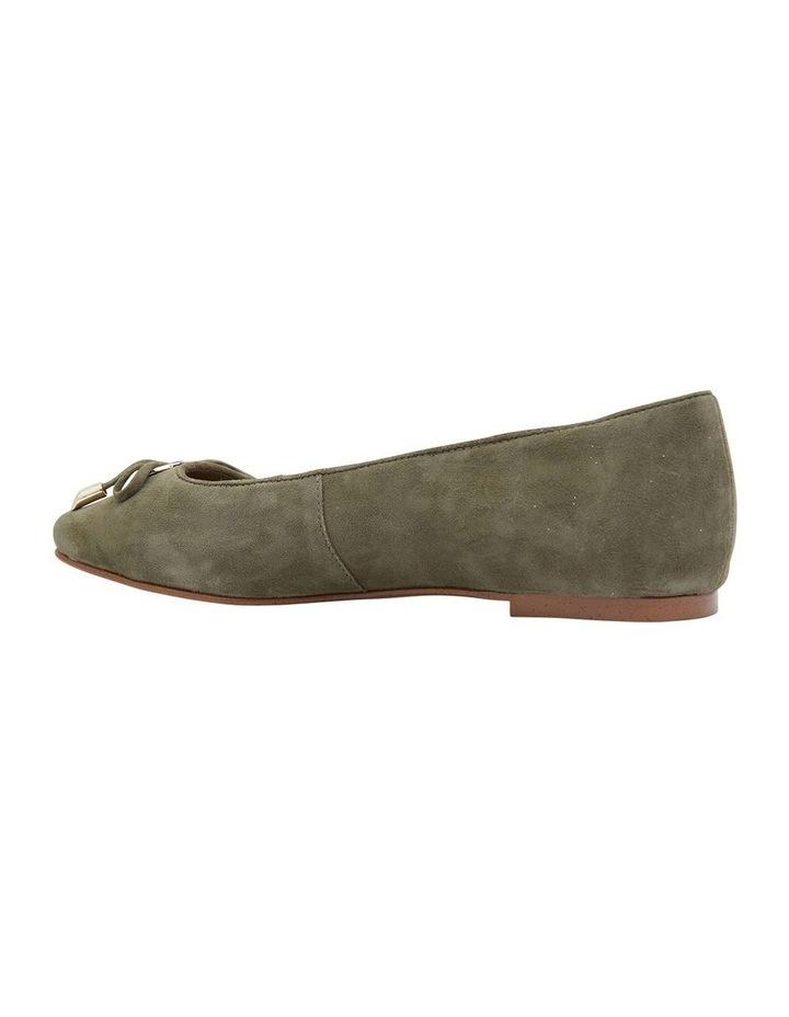 Tabbatha Khaki Suede Flat Shoes image 4