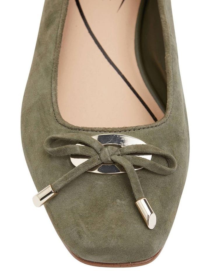 Tabbatha Khaki Suede Flat Shoes image 5