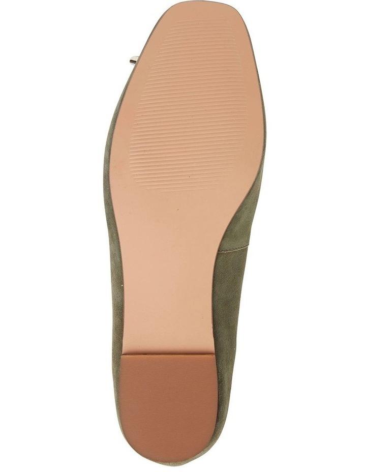 Tabbatha Khaki Suede Flat Shoes image 7