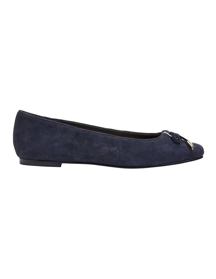 Tabbatha Navy Suede Flat Shoes image 1