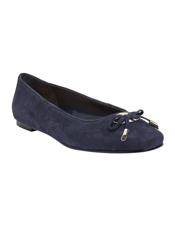 Tabbatha Navy Suede Flat Shoes image 2