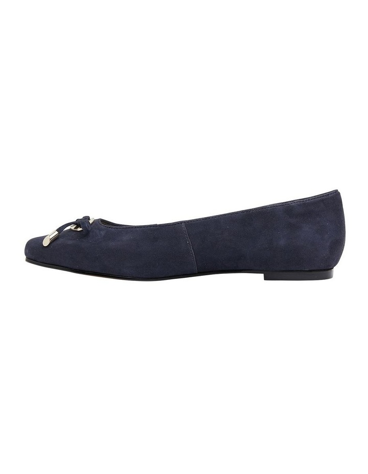 Tabbatha Navy Suede Flat Shoes image 3