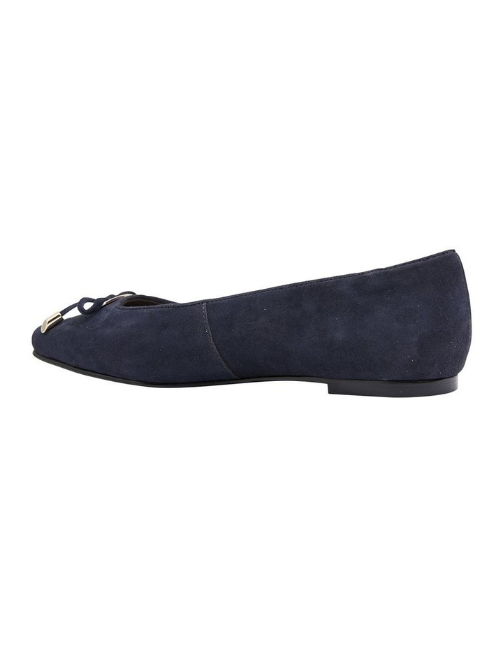 Tabbatha Navy Suede Flat Shoes image 4