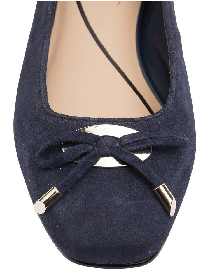 Tabbatha Navy Suede Flat Shoes image 5