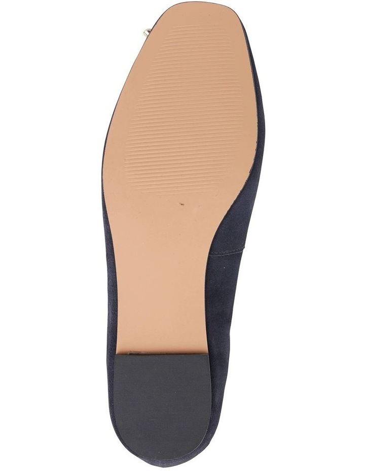 Tabbatha Navy Suede Flat Shoes image 7