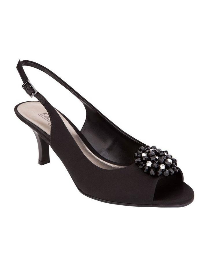Anissa Black Silk Sandal image 3