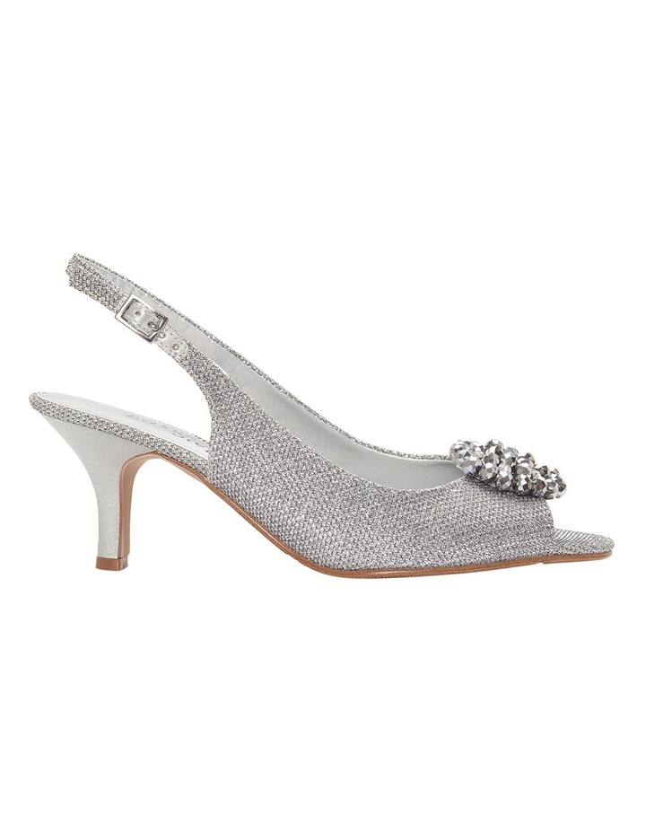 Anissa Silver Shimmer Fabric Sandal image 1