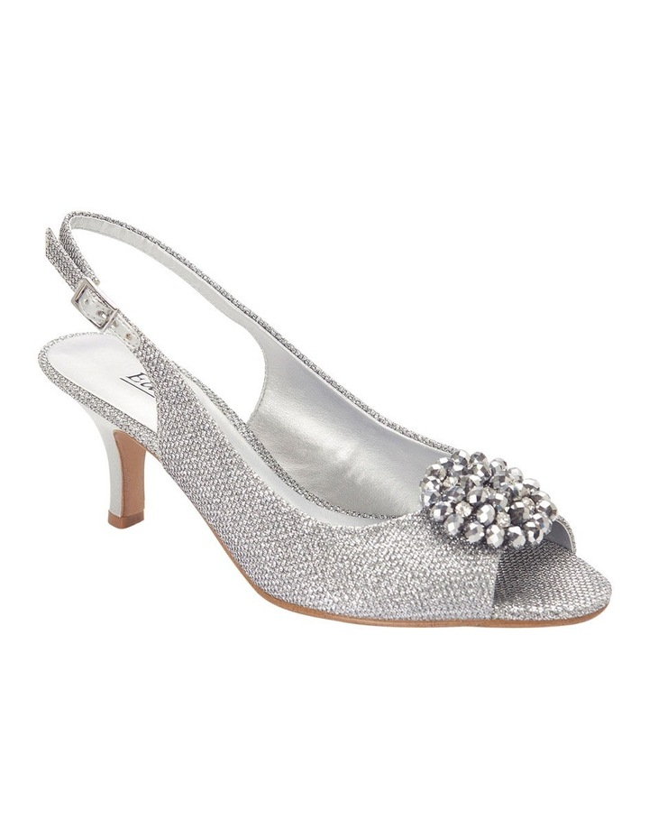 Anissa Silver Shimmer Fabric Sandal image 2
