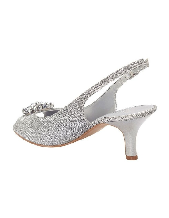 Anissa Silver Shimmer Fabric Sandal image 5