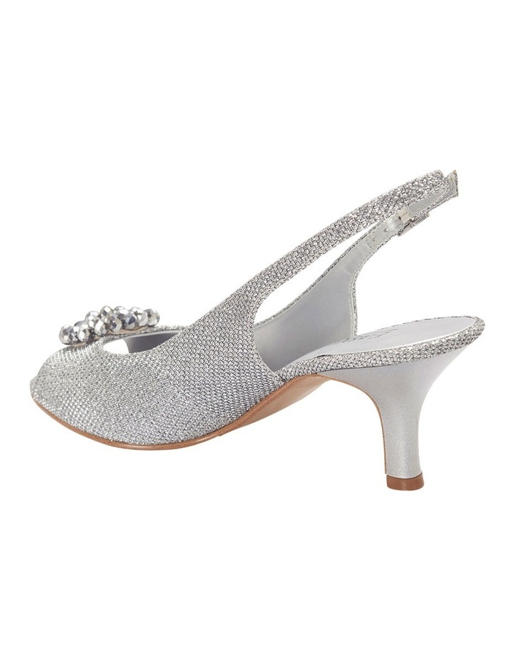 Anissa Silver Shimmer Fabric Sandal image 3