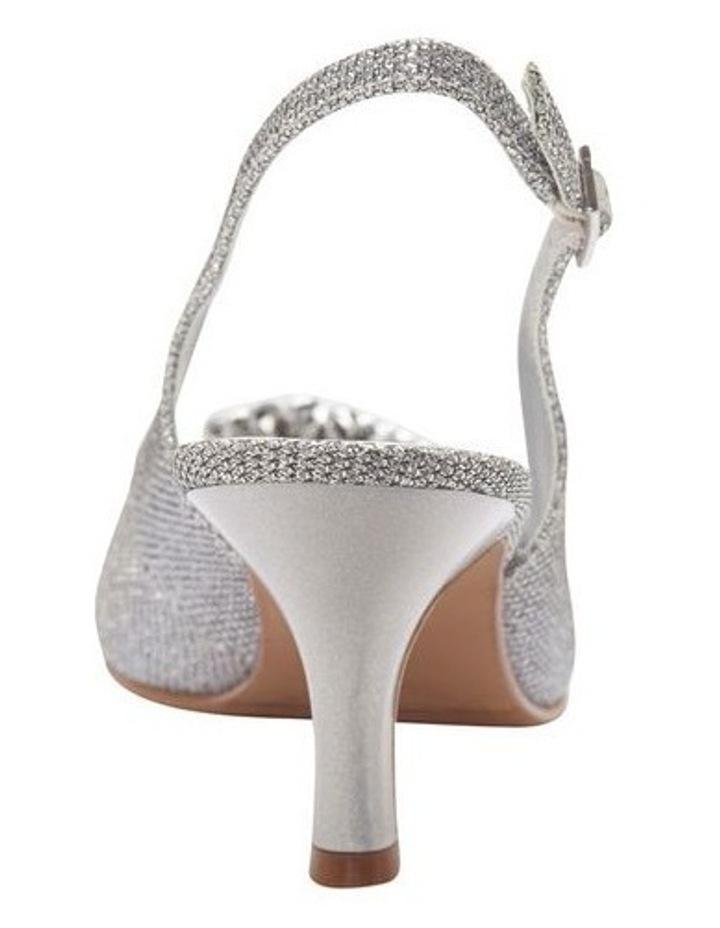 Anissa Silver Shimmer Fabric Sandal image 8