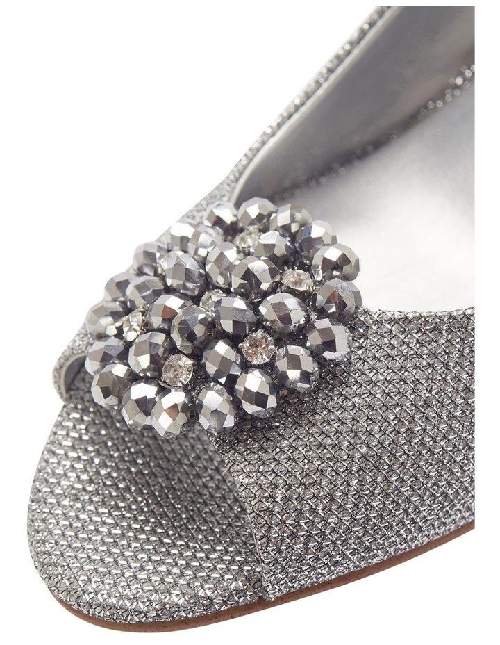 Anissa Silver Shimmer Fabric Sandal image 9