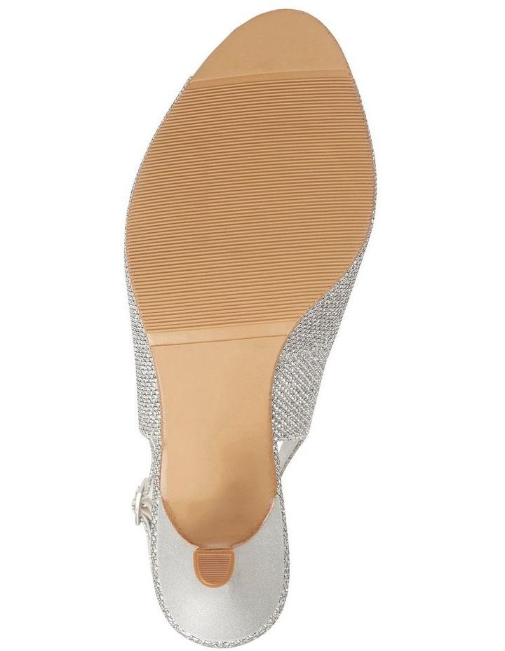 Anissa Silver Shimmer Fabric Sandal image 10