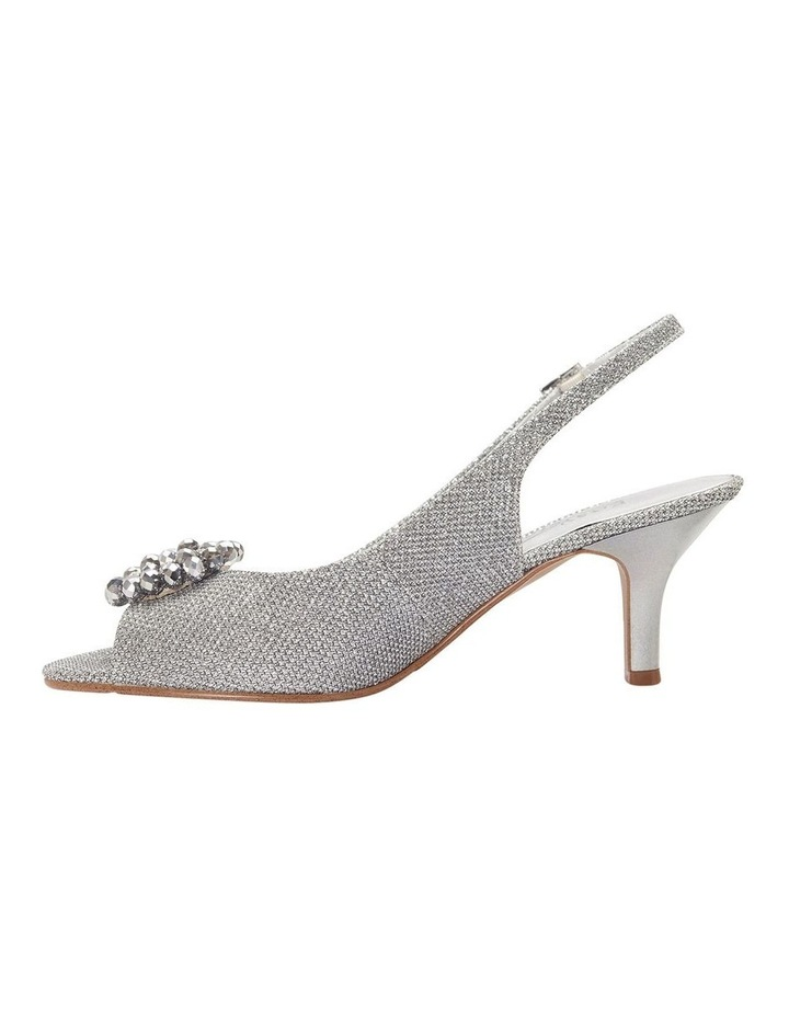 Anissa Silver Shimmer Fabric Sandal image 11