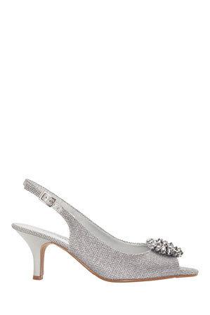 Easy Steps - Anissa Silver Shimmer Fabric Sandal