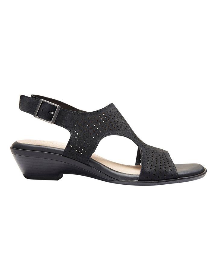Carrie Black Nubuck Sandal image 1