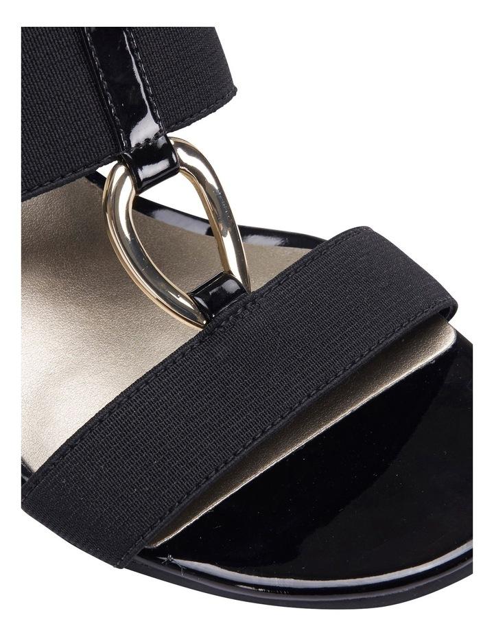 Claire Black Elastic Sandal image 4